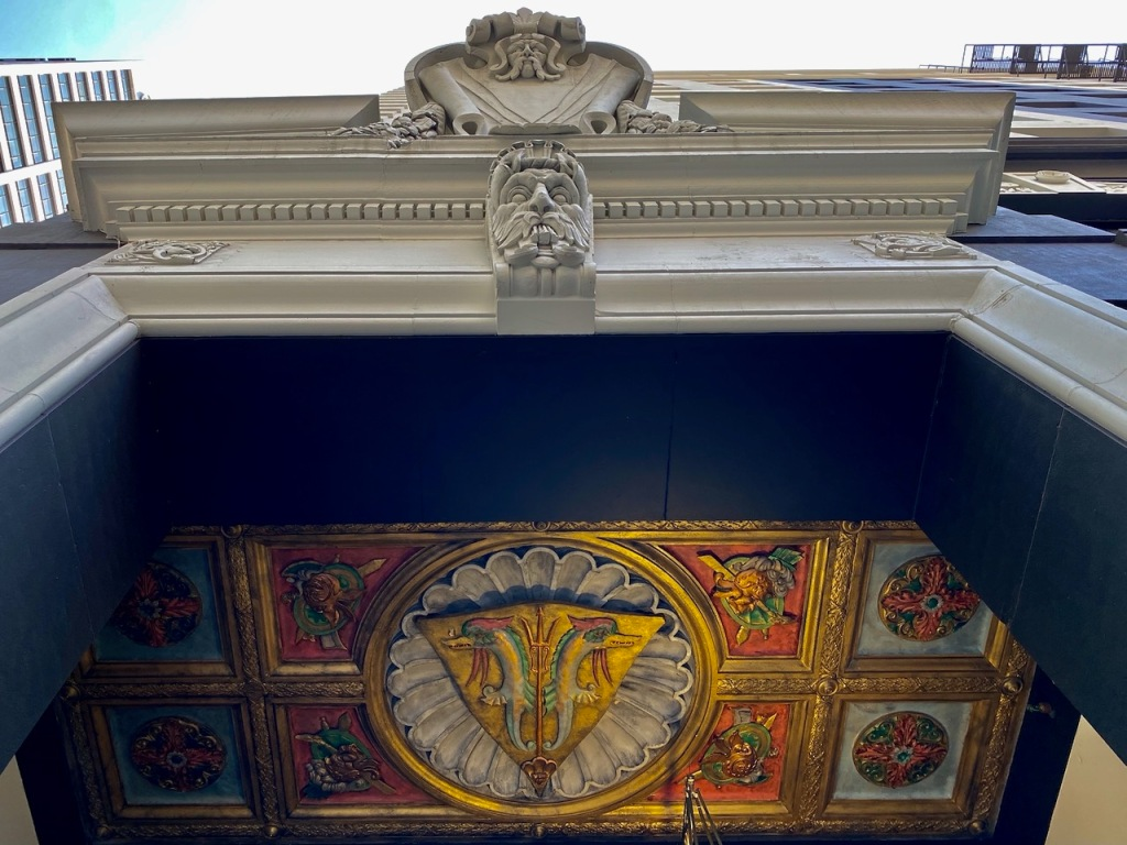 Street Photography: Looking Up - Gargoylish Guard to Double Dragon Ceiling