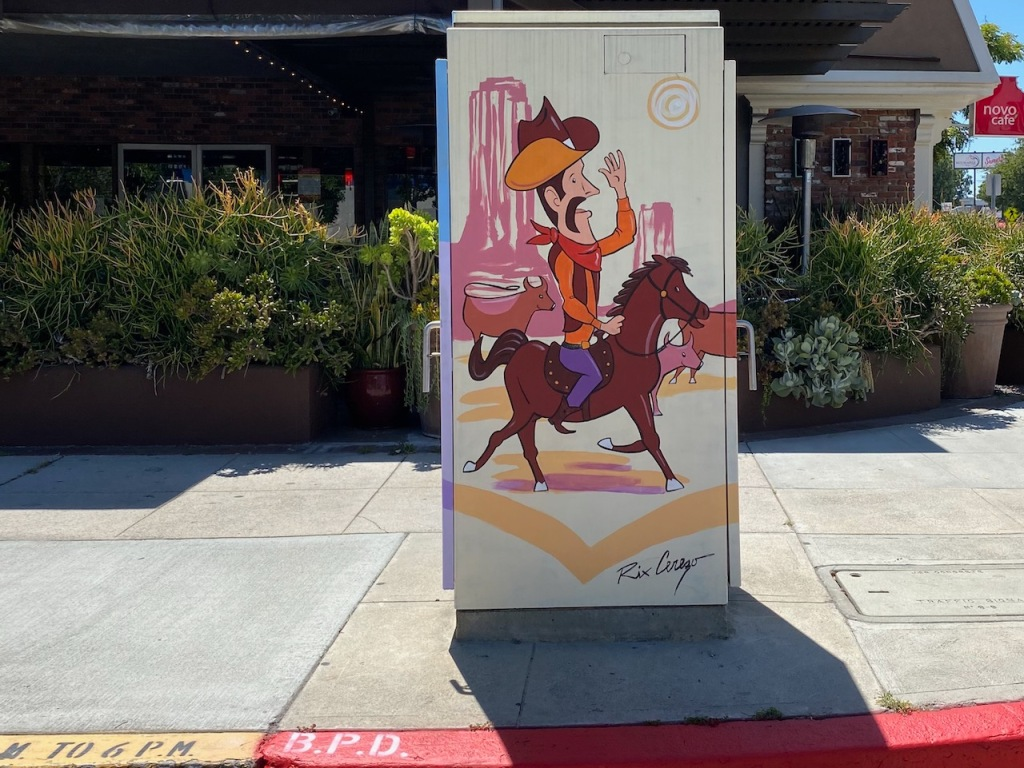 Street Photography: Cowboy Electrical Box