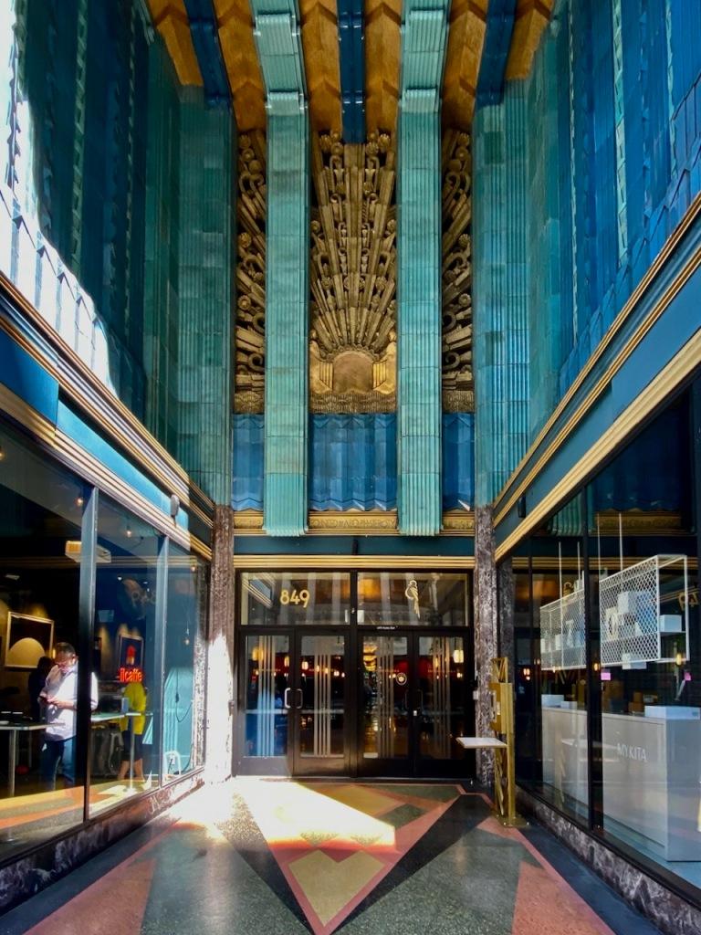 Street Photography: Ornate Blue-Building Lobby