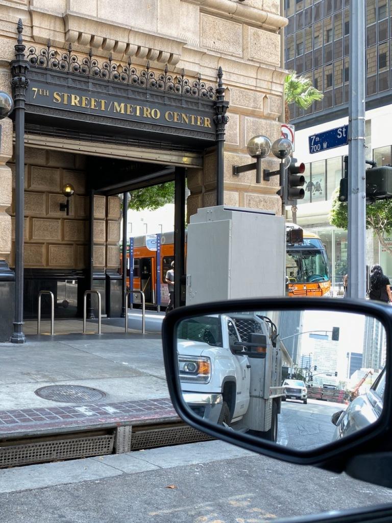 Street Photography: LA Subway Entrance