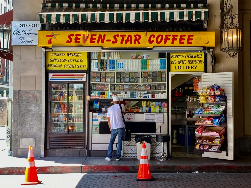 Street Photography: Multi-Star Coffee at Historic St. Vincent's Court
