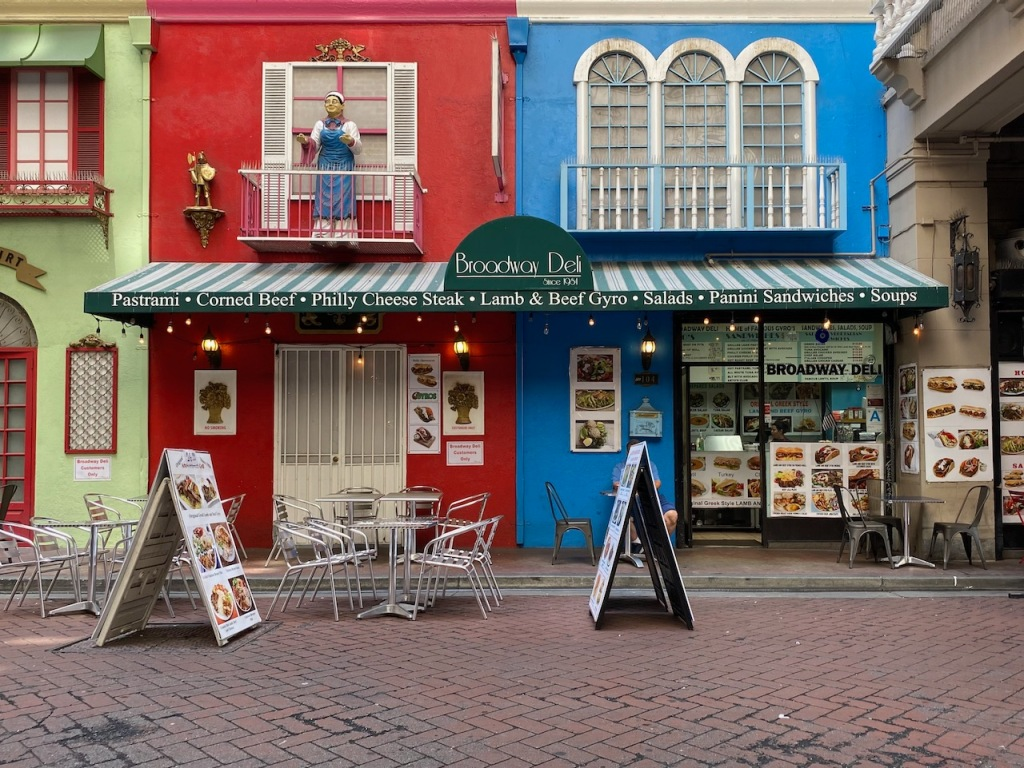 Street Photography: Row Stores in Courtyard