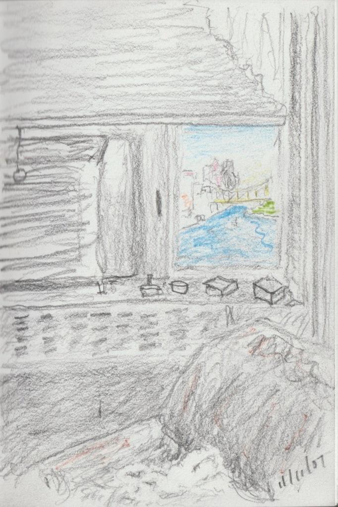 Vintage Sketch Book Series: East River, NYC 2007