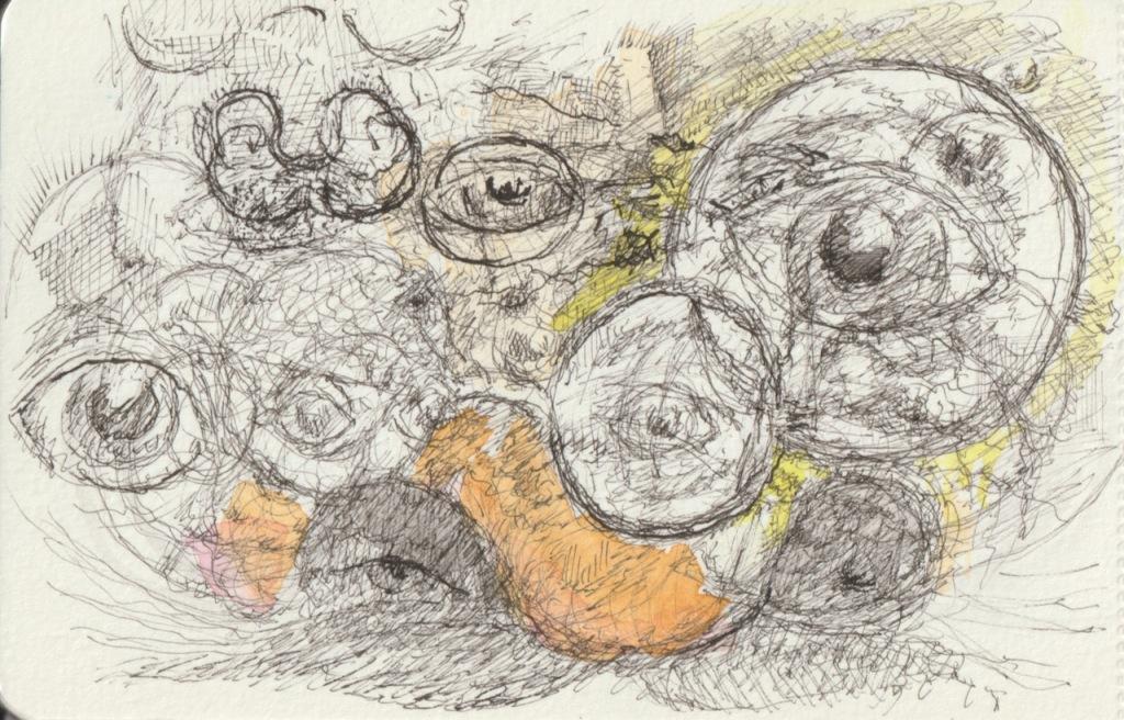 Vintage Sketch Book Series: Eye Doodles (2009-2021)