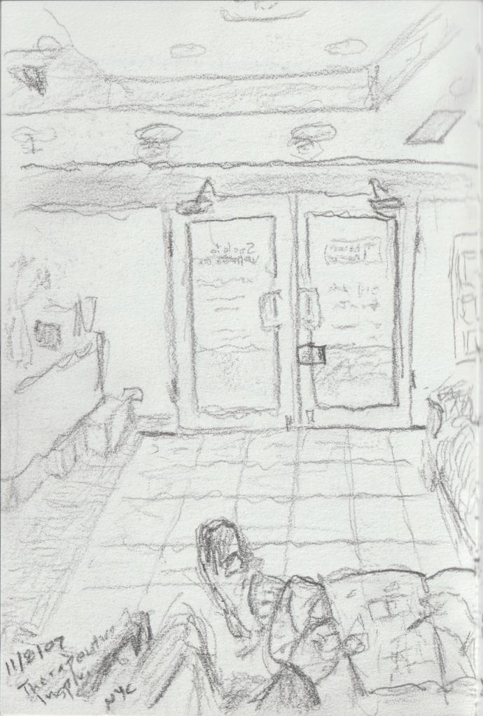 Vintage Sketch - Waiting Room 2007