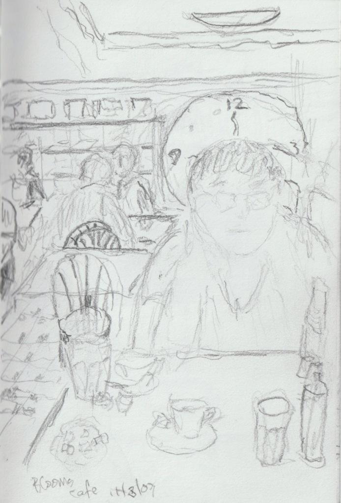 Vintage Sketch Series: Joy at Blooms, NYC 2007