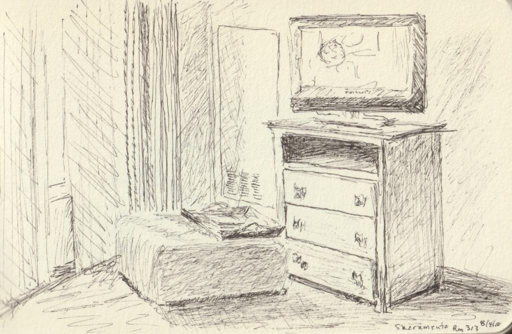 Vintage Sketch Book Series: Hotel Room (August 2010)