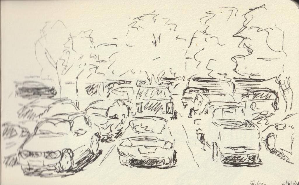 Vintage Sketch Book Series: Parking Lot (April 2010)