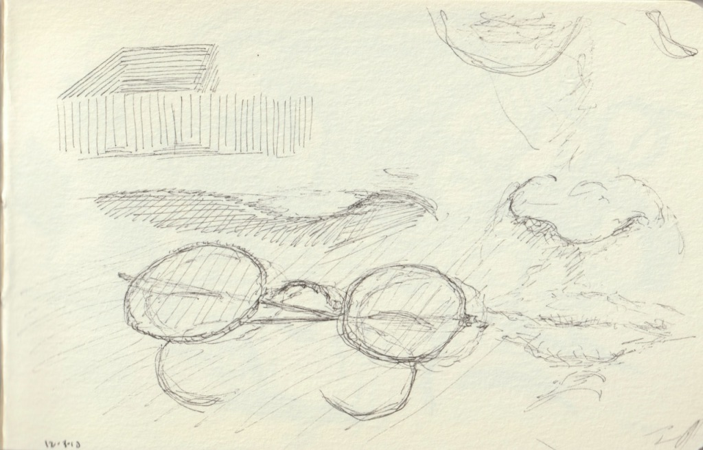 Vintage Sketch Book Series: Pen and Ink - Face and Glasses (December 2010)