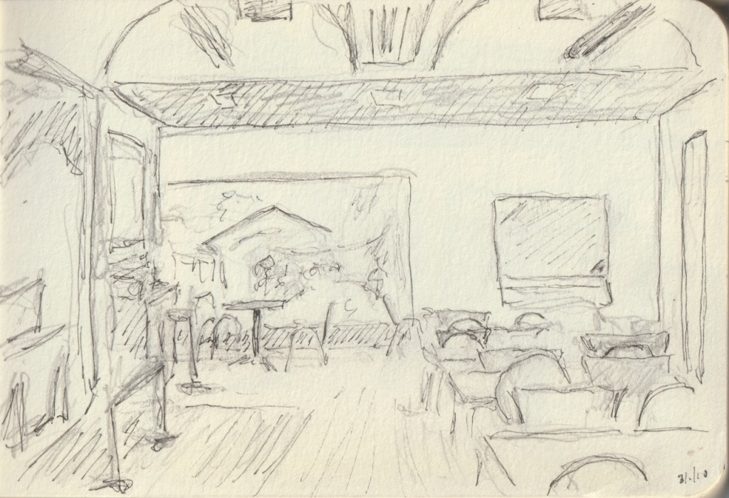 Vintage Sketch Book Series: Pencil/Ink - Tech Museum Cafe 2010