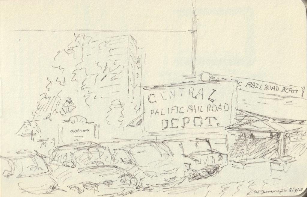Vintage Sketch Book Series: Railroad Museum (August 2010)