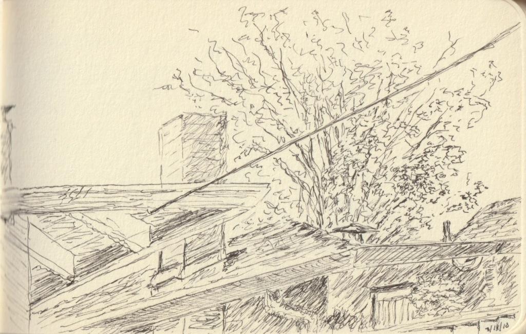 Vintage Sketch Book Series: Roof Top Details 2010