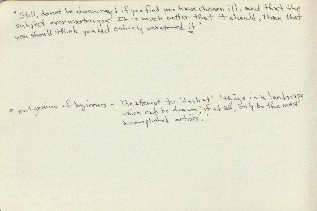 Vintage Sketch Book Series: Ruskin Intro 3/3 (July 2010)