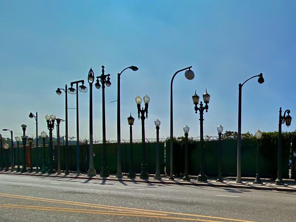 Street Photography: Street Light Garage Sale