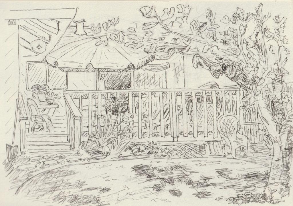 Vintage Sketch Book Series: Back Porch (August 2008)