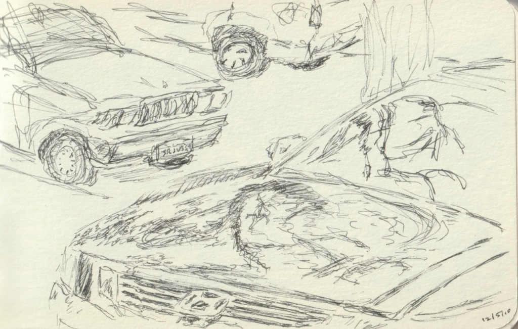 Vintage Sketch Book Series: Car Hood Reflections (December 2010)