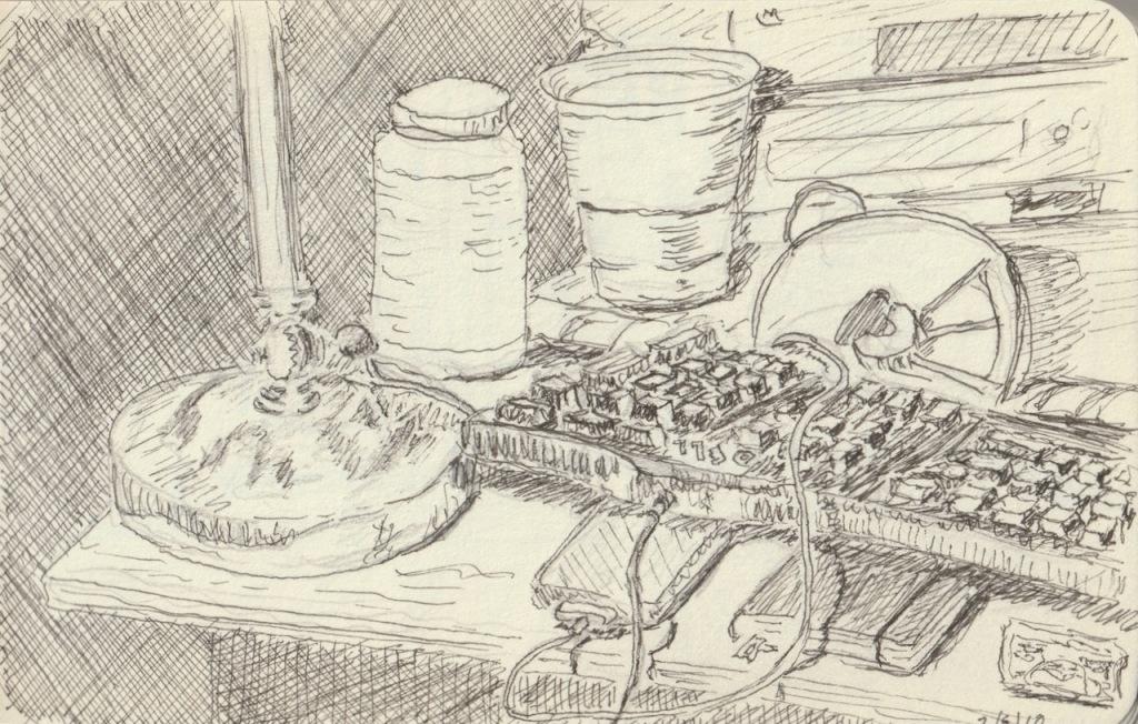 Vintage Sketch Book Series: Messy Desk (February 2010)