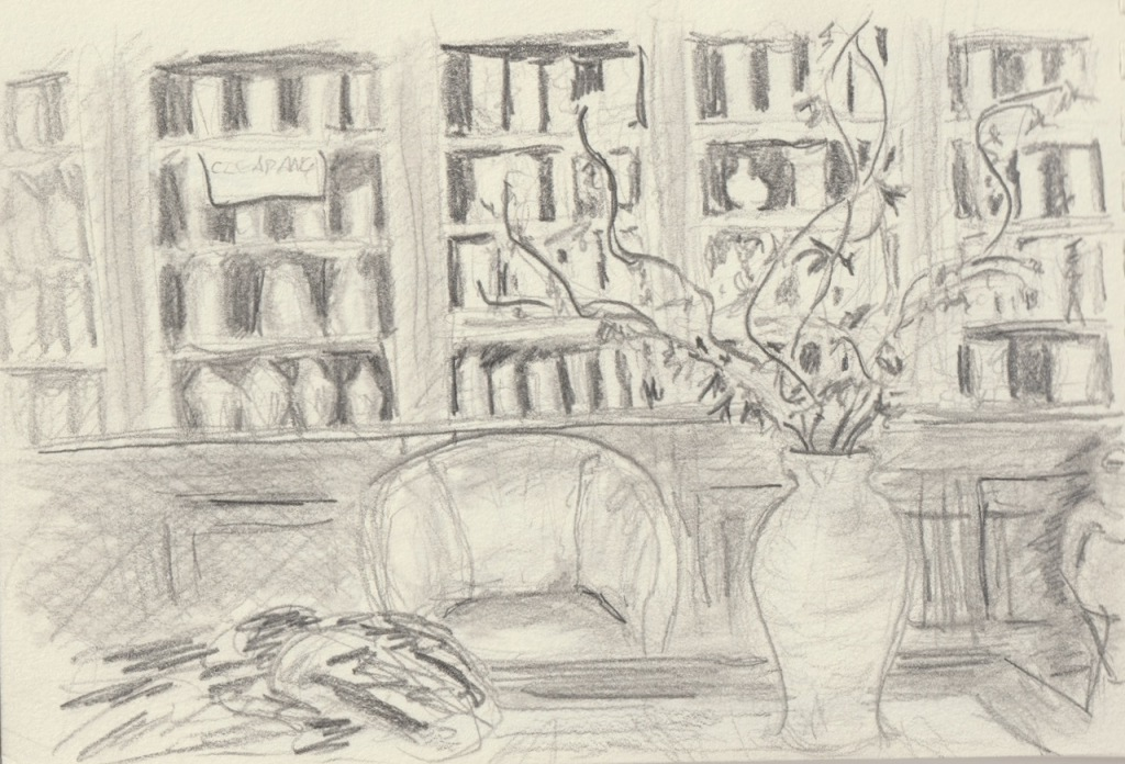Vintage Sketch Book Series: Salon with Vase (February 2009)