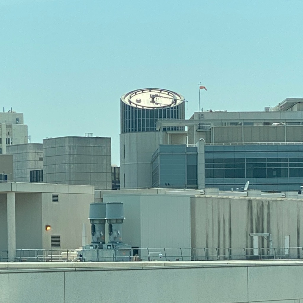 Street Photography: One-Handed Roof Clock