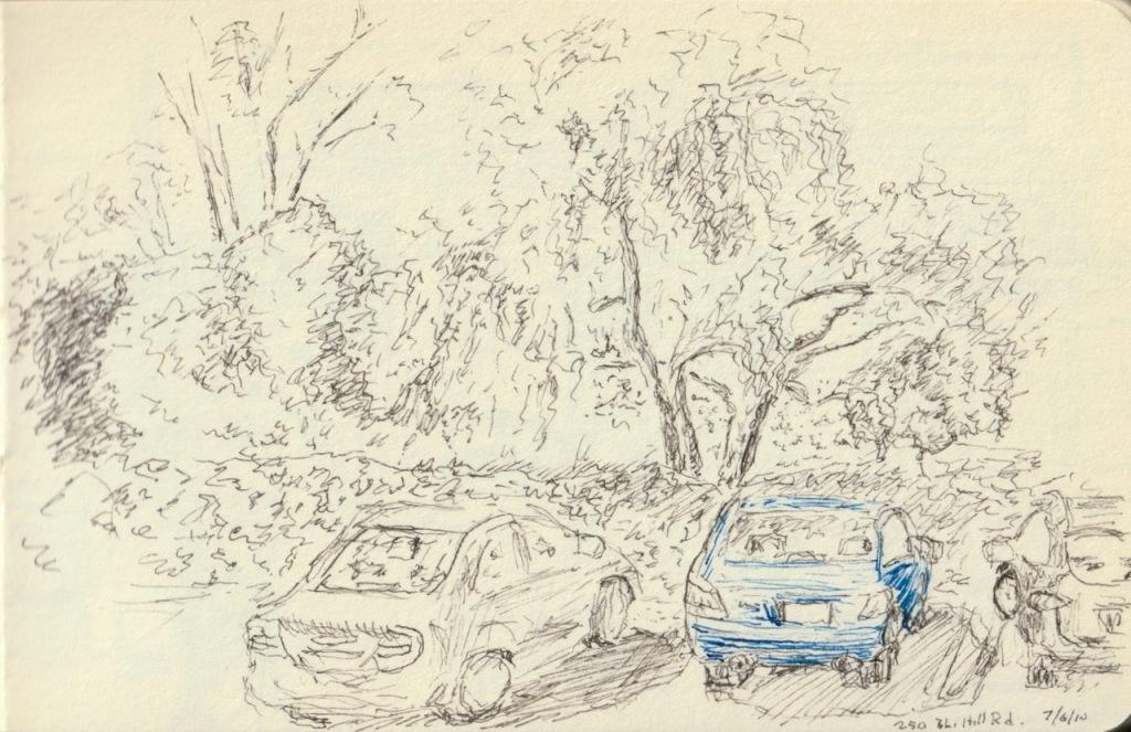 Vintage Sketch Book Series: Blue Car (July 2010)