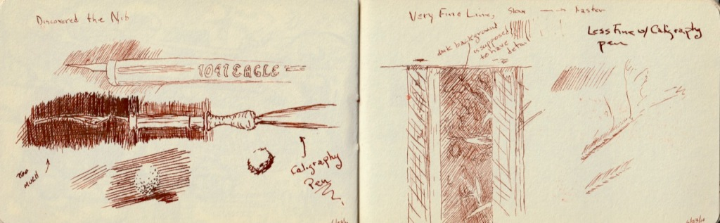 Vintage Sketch Book Series: Calligraphy Pens and Sepia (June 2010)