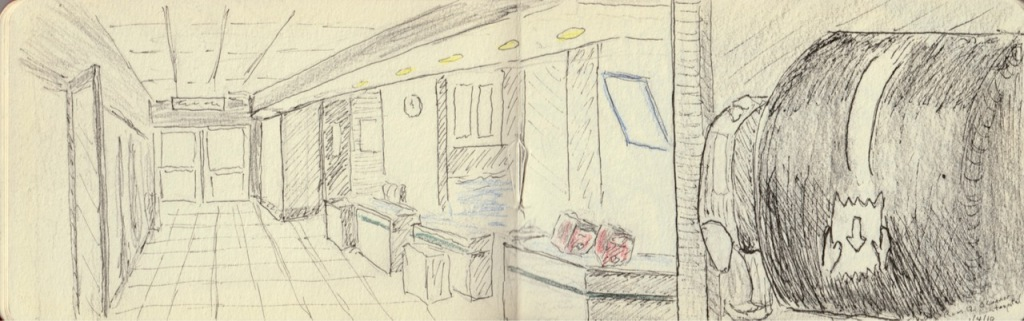 Vintage Sketch Book Series: ER Hallway (January 2010)