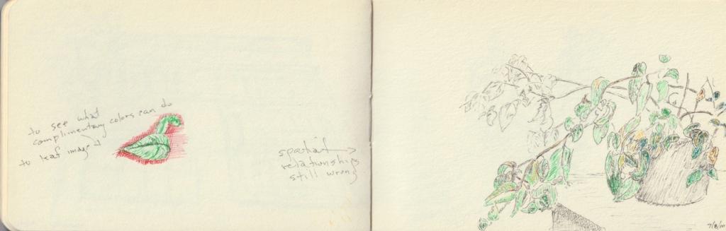 Vintage Sketch Book Series: Leaf Practice (July 2010)