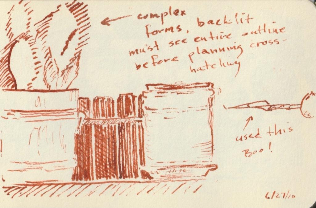 Vintage Sketch Book Series: Sepia Cross Hatch (June 2010)