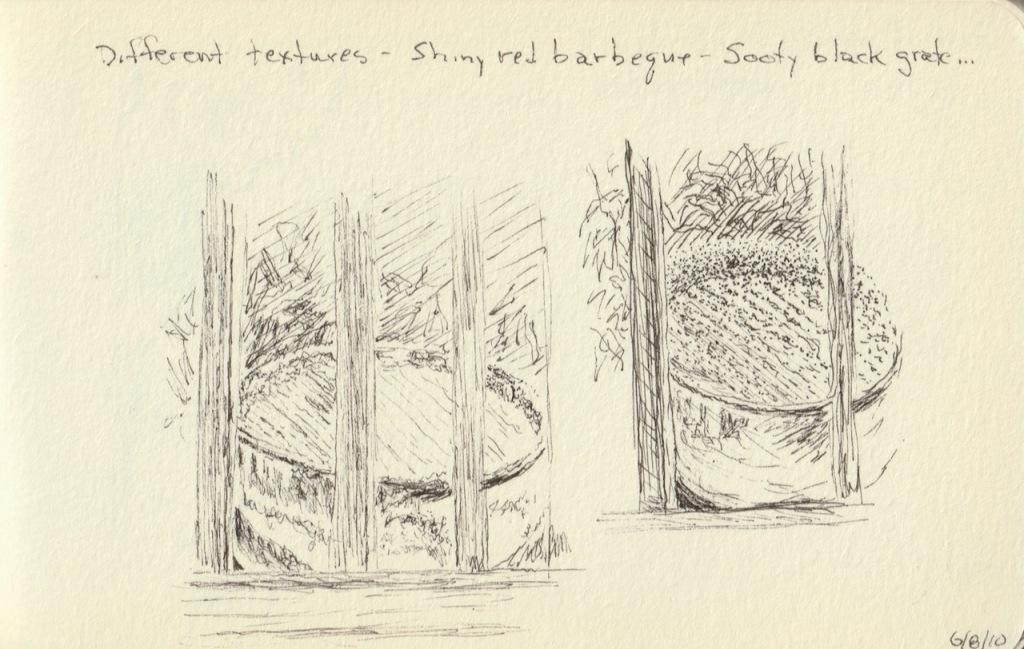 Vintage Sketch Book Series: Texture Study (June 2010)